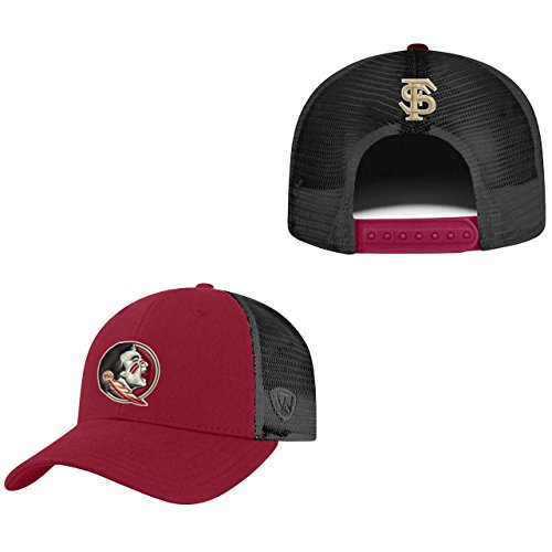 Top of the World Florida State Seminoles Adult NCAA Team Spirit Structured Fit Meshback Hat - Team Color,