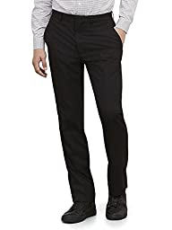 Kenneth Cole REACTION Men\'s Black Solid Suit Separate Pant, Black, 36W x 30L