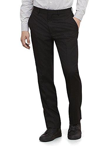 Kenneth Cole REACTION Mens Black Solid Suit Separate Pant Black 38W x 34L