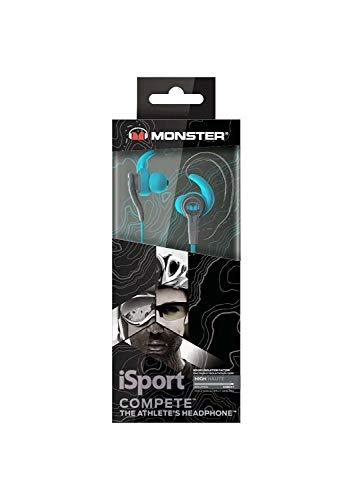 Monster iSport Compete Sport Headphones, Sweatproof, Running, Noise Isolation