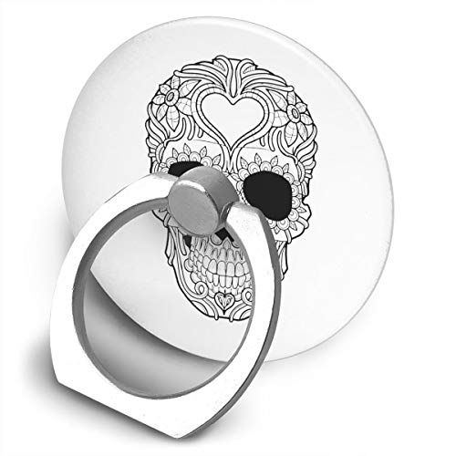 Yuotry 360 Degree Rotating Ring Stand Grip Mounts Skull Black & White Universal Phone Ring Bracket Holder Smartphone Ring Stent]()