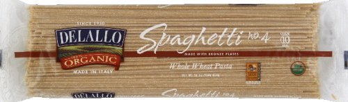 DeLallo Spaghetti, Whole Wheat, Organic 16.0 OZ (Pack of 2)