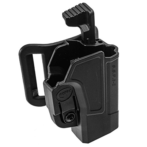Orpaz 1911 Gun Thumb Release Belt Holster Polymer 360 Rotation with Tension Adjustment ()