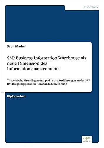 Book SAP Business Information Warehouse als neue Dimension des Informationsmanagements