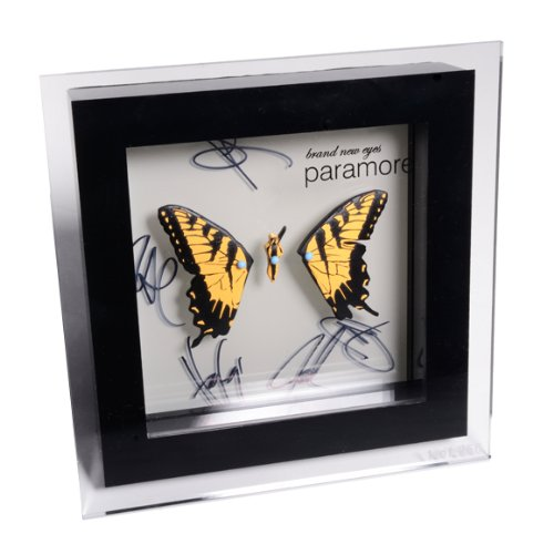 Paramore BRAND NEW EYES Limited Edition SHADOW (Autographed Shadow Box)