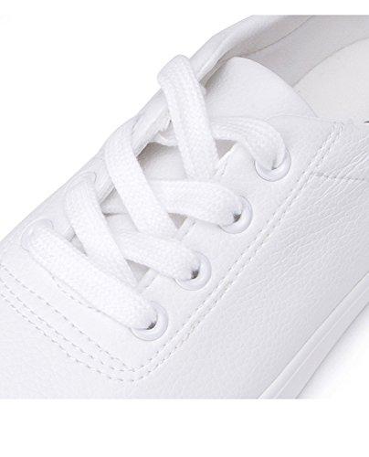 scarpe scarpe navy bellezza 38 signora blu dolce primavera profonde carina a Scarpe rotonda punta bianche DHG scarpe piatte nastro g6BqA1W