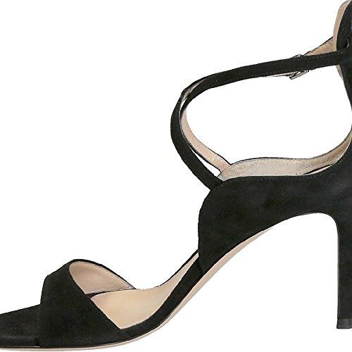 Gianvito Rossi sandalias de tacón alto en gamuza negra - Número de modelo: G60609.85RIC.CAMNERO negro