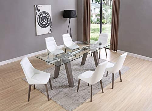 Whiteline Modern Living Valencia Dining Table Gray