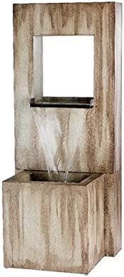 Direct Global Trading Zinc Wall Water Feature with Blade Style Cut Out Ideal Garden and Patio Gift Idea