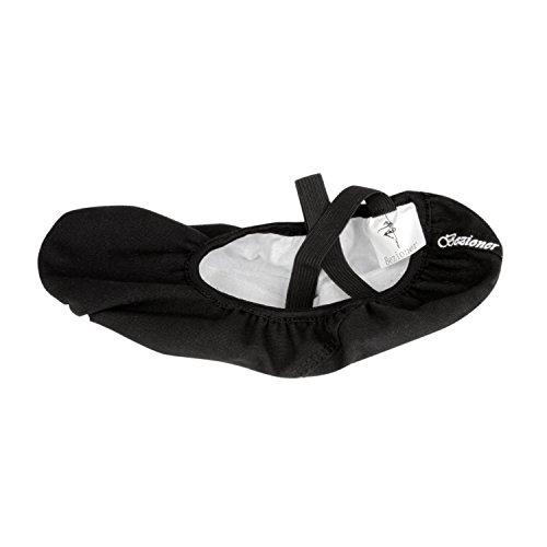 Bezioner Shop Zapatillas de Ballet Canvas Dance Zapatos Split (Negro y Rosa Claro) Le recomendamos Que Elija Uno (1) Tamaño Más Grande Que Su Tamaño Normal del Zapato Negro
