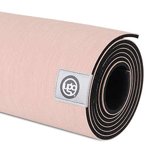 UGO Yoga Mat Pilates and Floor Exercises Fitness Eco Friendly and Natural Rubber Non-Slip Travel Mat(5MM) (Ivory Pink) (Hardwood Floor Yoga Mat)