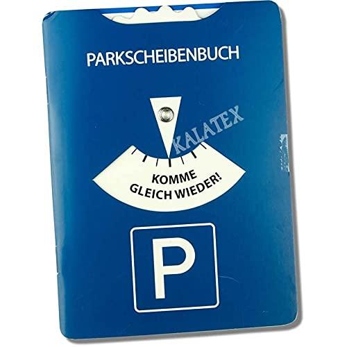 Troetsch 1 x parkeerschijfboek met parkeerschijf 11 x 15 cm