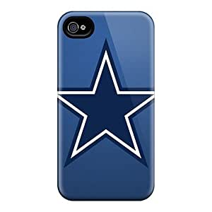 Shock Absorbent Cell-phone Hard Covers For Iphone 4/4s With Provide Private Custom Stylish Dallas Cowboys Skin JamieBratt