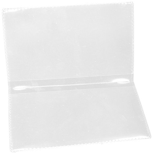 StoreSMART - Clear Folding Business Card Holders - 100 Pack - Polypropylene Plastic (RPP2915C-100)