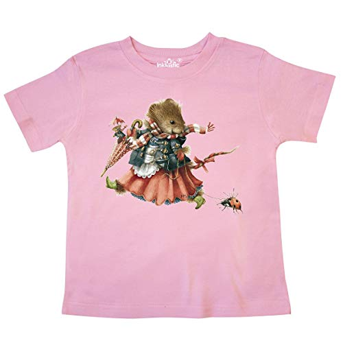 - inktastic - Vera The Mouse and Toddler T-Shirt 4T Pink - Marjolein Bastin 33576