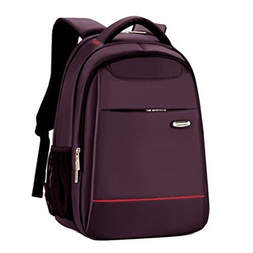 Baymate Mochila de Transporte Para Ordenador Portátil Unisexo Negocios Mochila Para Laptop Púrpura