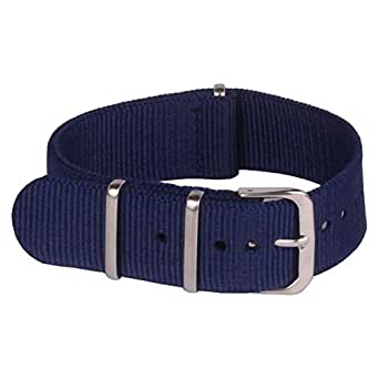 Nato strap 18mm Navy Blue