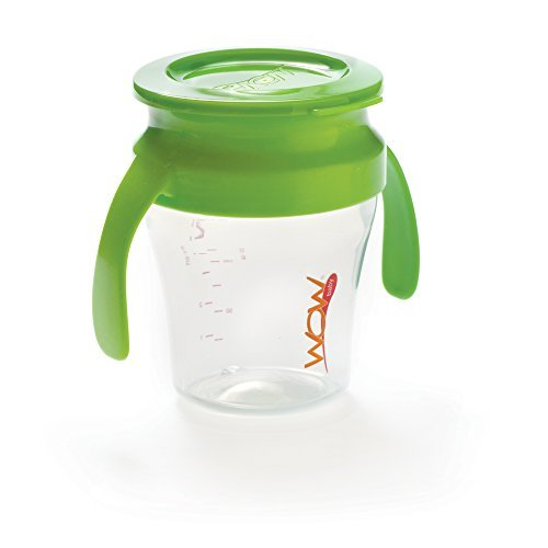 Training Ounce Cup 7 - Wow Baby Spill Free 360 Training Cup - Green - 7 oz