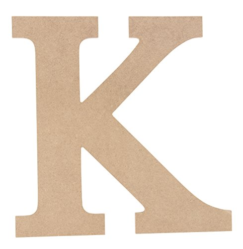 Wooden Greek Letter - Unfinished Wood Letter K for Kappa, Paintable Greek Font for DIY, Home, College, Sorority, Fraternity Decoration, 11.625 x 11.625 x 0.25 inches (Sorority Greek Letters)