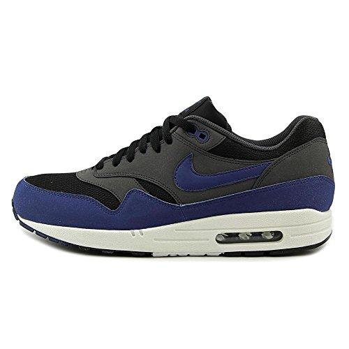 Nike Nike Air Max 1 Essential, Grey - Zapatillas de material sintético hombre Black/Drk Ryl Bl-anthrct-white