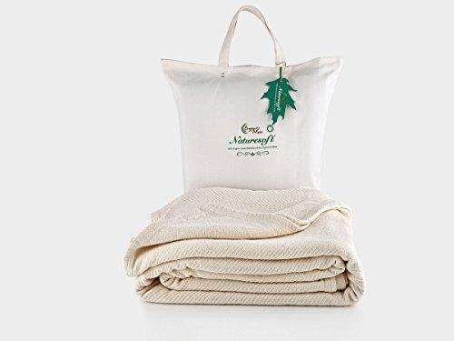 Organics and More Cotton Chenille Herringbone Blanket - Full - Natural - FUCHB-1 by Organics and More