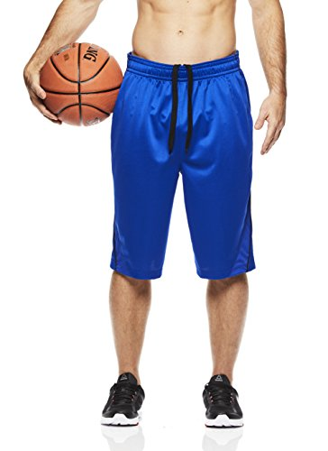 Above the rim Men's Basketball Short Performance Mesh Athletic Workout Gym Shorts - 3 Point Range - Royal, X-Large -