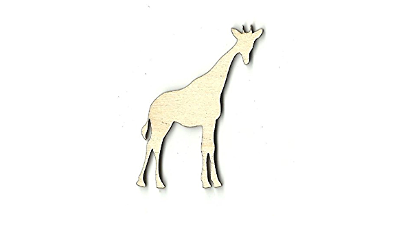 Giraffe Laser Cut Out Unfinished Wood Shape Craft Supply ANML91