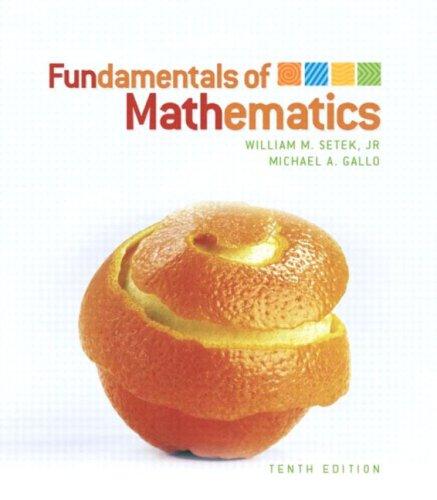 Fundamentals of Mathematics (10th Edition)