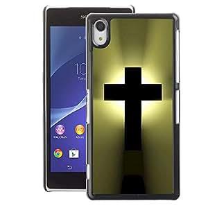 A-type Arte & diseño plástico duro Fundas Cover Cubre Hard Case Cover para Sony Xperia Z2 (God Christianity Bible Heaven)