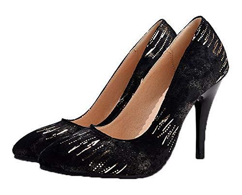 Tacco Ballet Luccichio AllhqFashion Oro Colore Flats Alto Assortito Tirare Donna FBUIDD006572 wRwangE