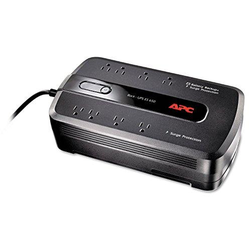 Back UPS ES 650 Battery Backup System 650VA 8 Outlets 365 J
