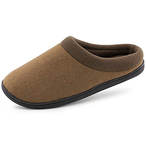 Camel Back Arch (HomeIdeas Men's Woolen Fabric Memory Foam Anti-Slip House Slippers, Triple Thickened Sole, Perfect For Autumn and Winter (X-Large/13-14 D(M) US, Camel))