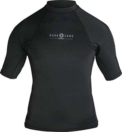 Deep See Men's Short Sleeve Lycra Rash Guard, Black, X-Large ()