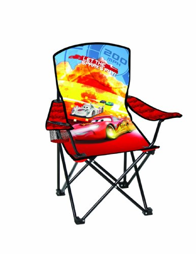 Disney Youth Cars Folding Chair with Armrest and Cup Holder Disney Outdoor Furniture