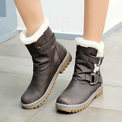 Bootie Chaudes Neige Dames Chaud Short Boucle Femmes Boots De Fourrure Bottes Brown Casual Classiques Chaussures Ningsanjin qzwx7pHE7