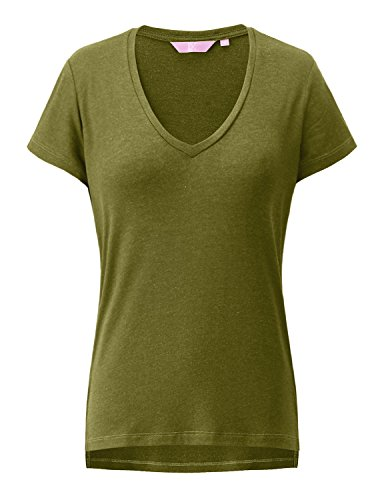 REGNA X Love Coated Woman Grass shirring cap sleeve Tshirt (Gray Womens Cap Sleeve T-shirts)
