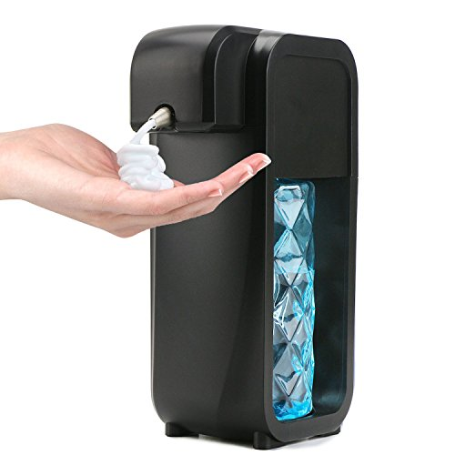 Segarty Automatic Hand Soap Dispenser, Sensor Touchless Soap Dispenser Wall Mounted with 2 Modes Adjustable & 300ML Capacity for Bathroom and Kitchen, Black
