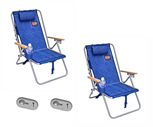 Deluxe Steel Rio Backpack Beach / Camping Chair with Side Tray Removeable Tray