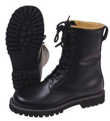 Springerstiefel-tec bottes déquitation en cuir noir taille 40