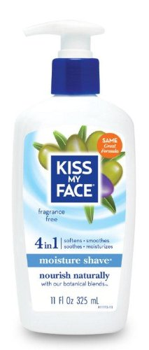Fragrance Shave Soap (Kiss My Face Moisture Shave Shaving Cream, Olive and Aloe Fragrance Free Shaving Soap for Sensitive Skin, 11 oz Pumps (Pack of)