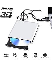 Externe Blu Ray DVD Laufwerk 3D 4K,USB 3.0 Blueray CD DVD Rom Player BrennerTragbar für PC MacBook iMac Mac OS Windows 7/8/10/Vista/XP