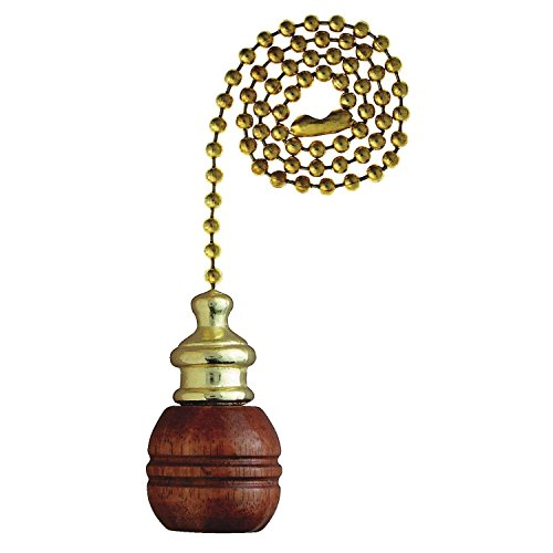 Westinghouse 7700700 Pull Chain Walnut & Brass (Brass Pull Chain)