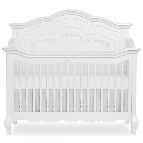Evolur-Aurora-Deluxe-Edition-5-in-1-Curved-Convertible-Crib-I-Fairytale-Nursery-Frost