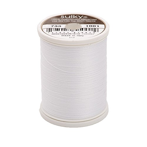 - Sulky Of America 400d 30wt Cotton Thread, 500 yd, Bright White