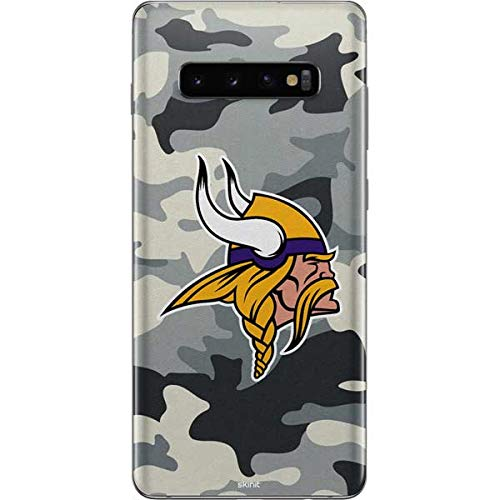 Skinit Minnesota Vikings Camo Galaxy S10 Plus Skin - Officially Licensed NFL Phone Decal - Ultra Thin, Lightweight Vinyl Decal Protection