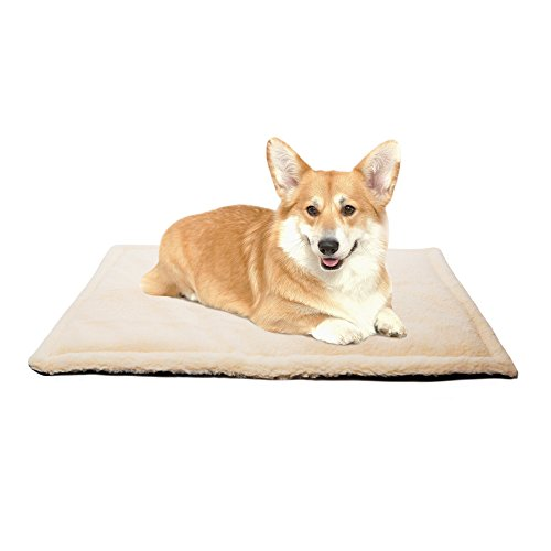 - All Seasons 30x20 inch Dog Kennel Crate Mat Pad and Pet Bed for Medium Dogs and Cats, Machine Washable, Water-Resistent, Indoor or Outdoor