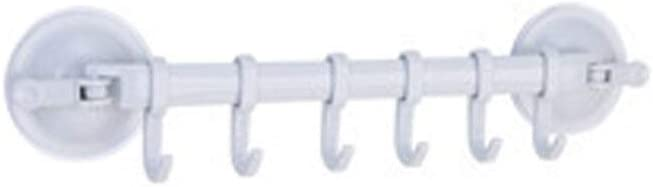 XLLF Aspirador de Pared Estante Ventosa 6 Ganchos Toalla Baño Titular de la Cocina Rieles de Ganchos de Ventana Colgador de lechón Colgante de Pared Ganchos de succión (Color : Blue): Amazon.es:
