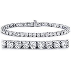 2-20 Carat Classic Tennis Bracelet 14K White Gold Value Collection