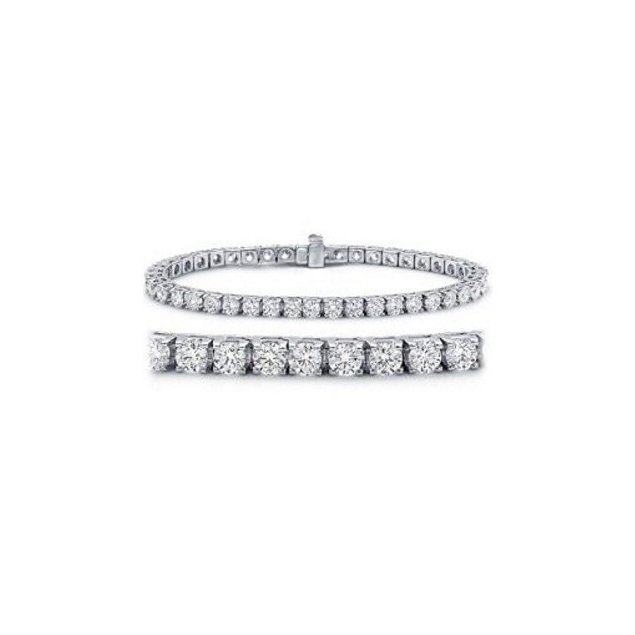 2 20 Carat Classic Tennis Bracelet 14K White Gold Value Collection