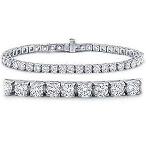 10 Carat Classic Diamond Tennis Bracelet 14K White Gold Value Collection
